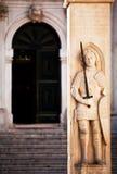Señal de Dubrovnik - la columna de la Orlando Foto de archivo libre de regalías