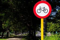 Señal de la bicicleta Imágenes de archivo libres de regalías