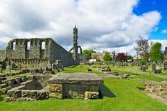 Señal de la catedral del St Andrews. Fife, Escocia. Fotos de archivo