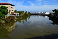 Señal de la ciudad de Roxas Foto de archivo libre de regalías