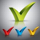 Señal de la marca de verificación. Imágenes de archivo libres de regalías