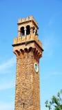 Señal de la torre de reloj Imagen de archivo