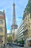 Señal de la torre Eiffel Foto de archivo libre de regalías