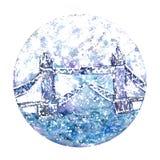 Señal de Londres de la acuarela libre illustration
