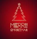 Señal de neón del árbol de navidad Fotografía de archivo libre de regalías
