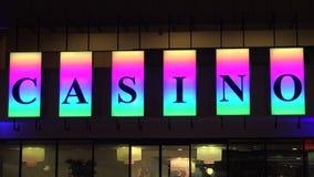 Señal de neón del casino 4K metrajes