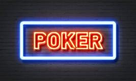 Señal de neón del póker libre illustration