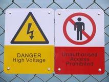 Señal de peligro Fotografía de archivo libre de regalías