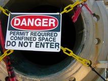 Señal de peligro Foto de archivo libre de regalías
