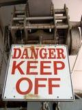 Señal de peligro Imagenes de archivo