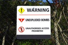 Señal de peligro Imagen de archivo libre de regalías