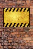 Señal de peligro Fotos de archivo libres de regalías