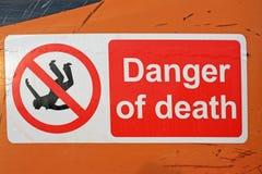 Señal de peligro Imagen de archivo