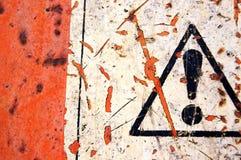 Señal de peligro abstracta Foto de archivo libre de regalías