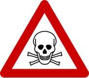 Señal de peligro con peligro mortal Imagen de archivo libre de regalías