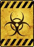 Señal de peligro de Biohazard Imagen de archivo libre de regalías