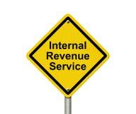 Señal de peligro de Internal Revenue Service Imagen de archivo libre de regalías