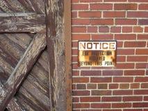 Señal de peligro de la correa del moho Foto de archivo