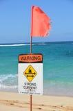 Señal de peligro de la corriente fuerte Imagen de archivo libre de regalías