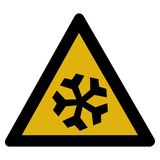 Señal de peligro de la nieve stock de ilustración