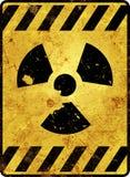 Señal de peligro de la radiactividad Fotografía de archivo