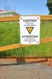 Señal de peligro de la radiofrecuencia Fotografía de archivo