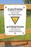 Señal de peligro de la radiofrecuencia Imagen de archivo