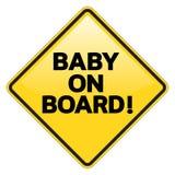 Señal de peligro del bebé a bordo Fotografía de archivo libre de regalías