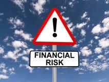 Señal de peligro del riesgo financiero Fotos de archivo