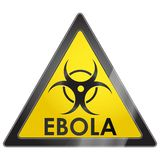 Señal de peligro del virus de EBOLA Foto de archivo