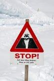 Señal de peligro en la ruta foto de archivo libre de regalías