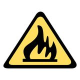Señal de peligro - fuego Imagenes de archivo