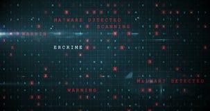 Señal de peligro generada Digital para el fraude en línea almacen de metraje de vídeo