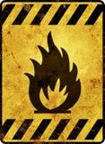 Señal de peligro inflamable Fotografía de archivo libre de regalías