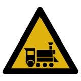 Señal de peligro - locomotora Imágenes de archivo libres de regalías