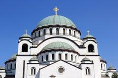 Señal de Serbia - catedral de Belgrado imagen de archivo libre de regalías