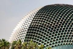 Señal de Singapur: Teatros de la explanada en la bahía Imagen de archivo