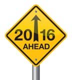 Señal de tráfico 2016 stock de ilustración