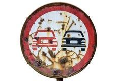 Señal de tráfico aislada en el fondo blanco Fotografía de archivo libre de regalías
