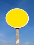 Señal de tráfico amarilla imágenes de archivo libres de regalías