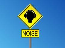 Señal de tráfico del ruido Foto de archivo libre de regalías