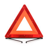 Triángulo amonestador rojo Foto de archivo libre de regalías