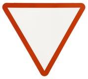 Señal de tráfico amonestadora del triángulo Imagen de archivo libre de regalías
