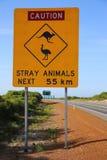 Señal de tráfico australiana Imagen de archivo libre de regalías