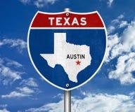 Señal de tráfico de Austin Texas ilustración del vector