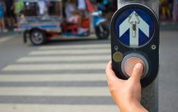 Señal de tráfico de Bangkok del paseo Imagenes de archivo