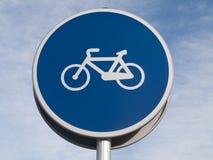 Señal de tráfico de bicicleta Imagen de archivo libre de regalías