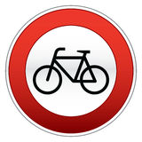 Señal de tráfico de bicicleta imagen de archivo