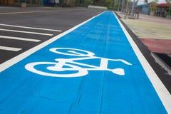 Señal de tráfico de bicicleta Foto de archivo