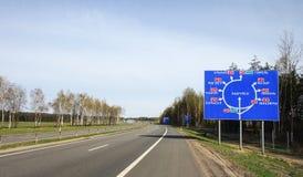 Señal de tráfico de Bielorrusia Imágenes de archivo libres de regalías
